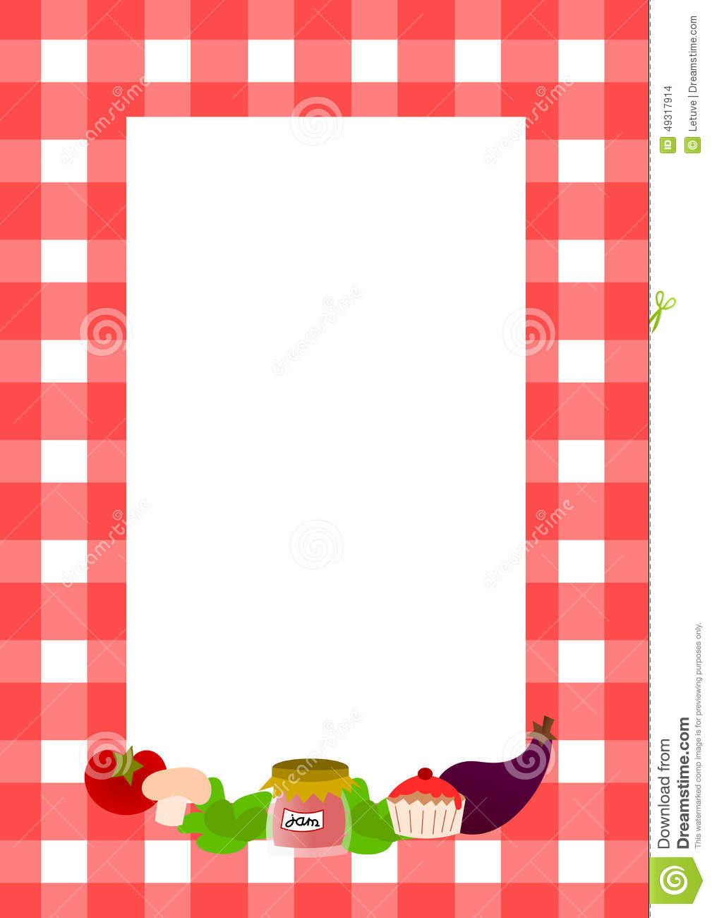 Blank Recipe Page Layout Illustration Image 49317914 – Blank Recipe Template