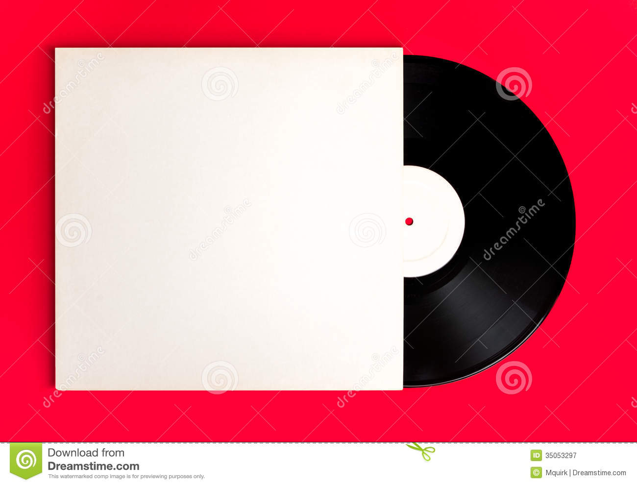 Blank record album and cover