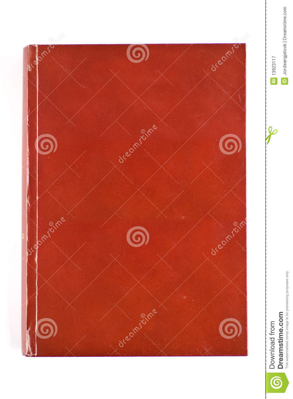 Blank red cover book