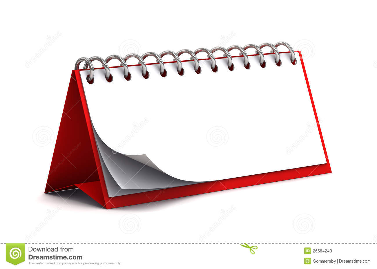 Blank Red Desk Paper Calendar Stock Photos Image 26584243