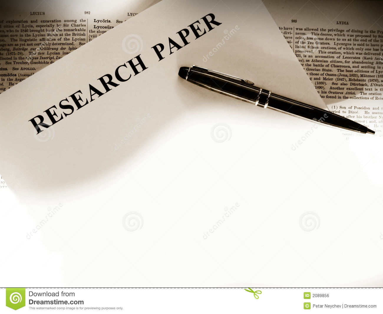 research your major paper