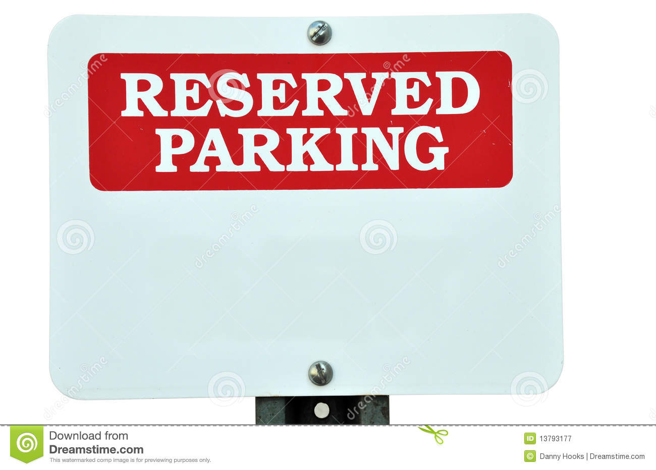 Blank reserved parking sign stock image image 13793177 for Reserved parking signs template