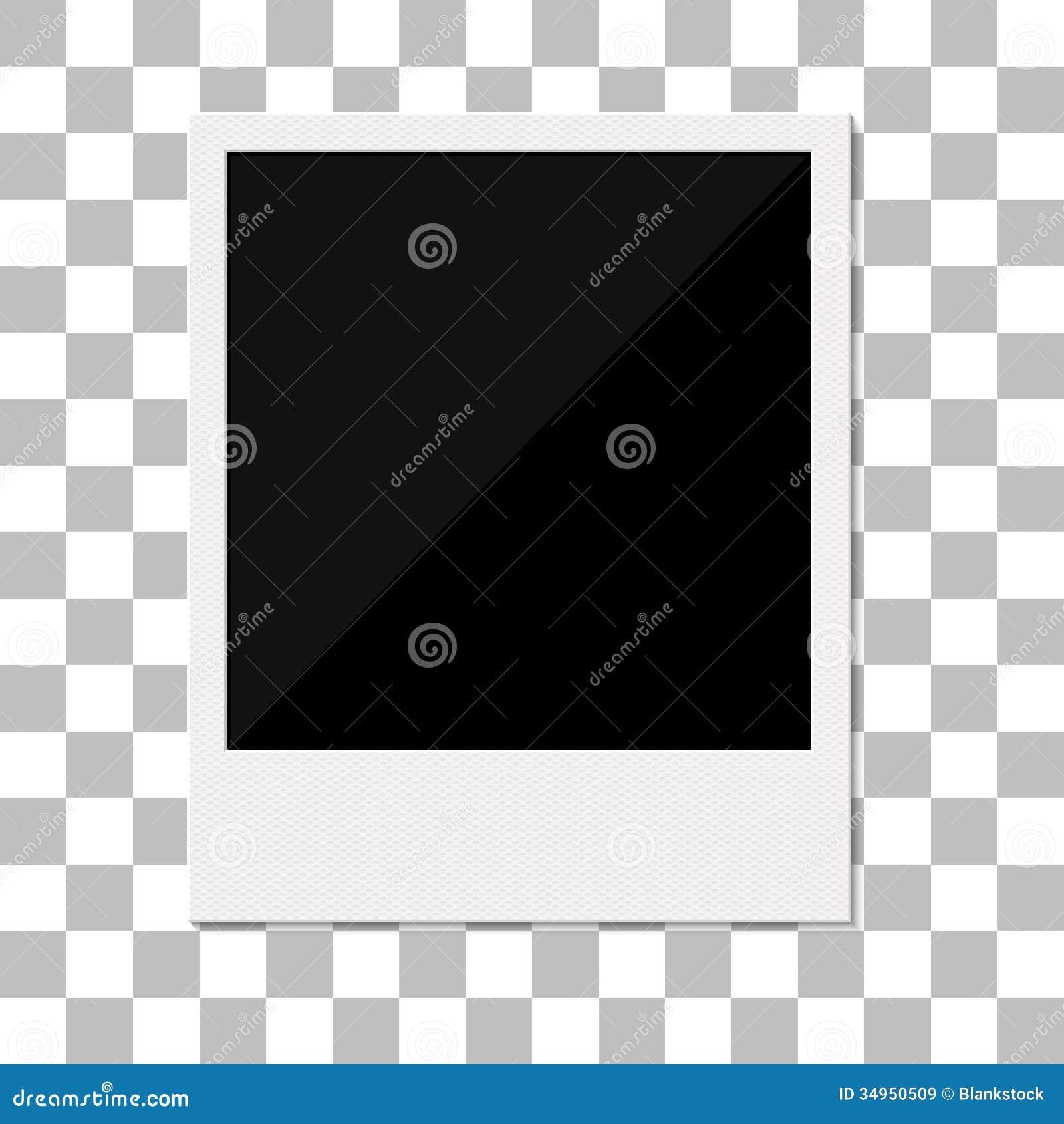 Blank Retro Polaroid Photo Frame. Stock Vector - Illustration of ...