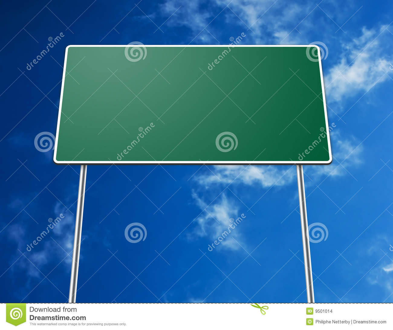blank road sign stock images image 9501014
