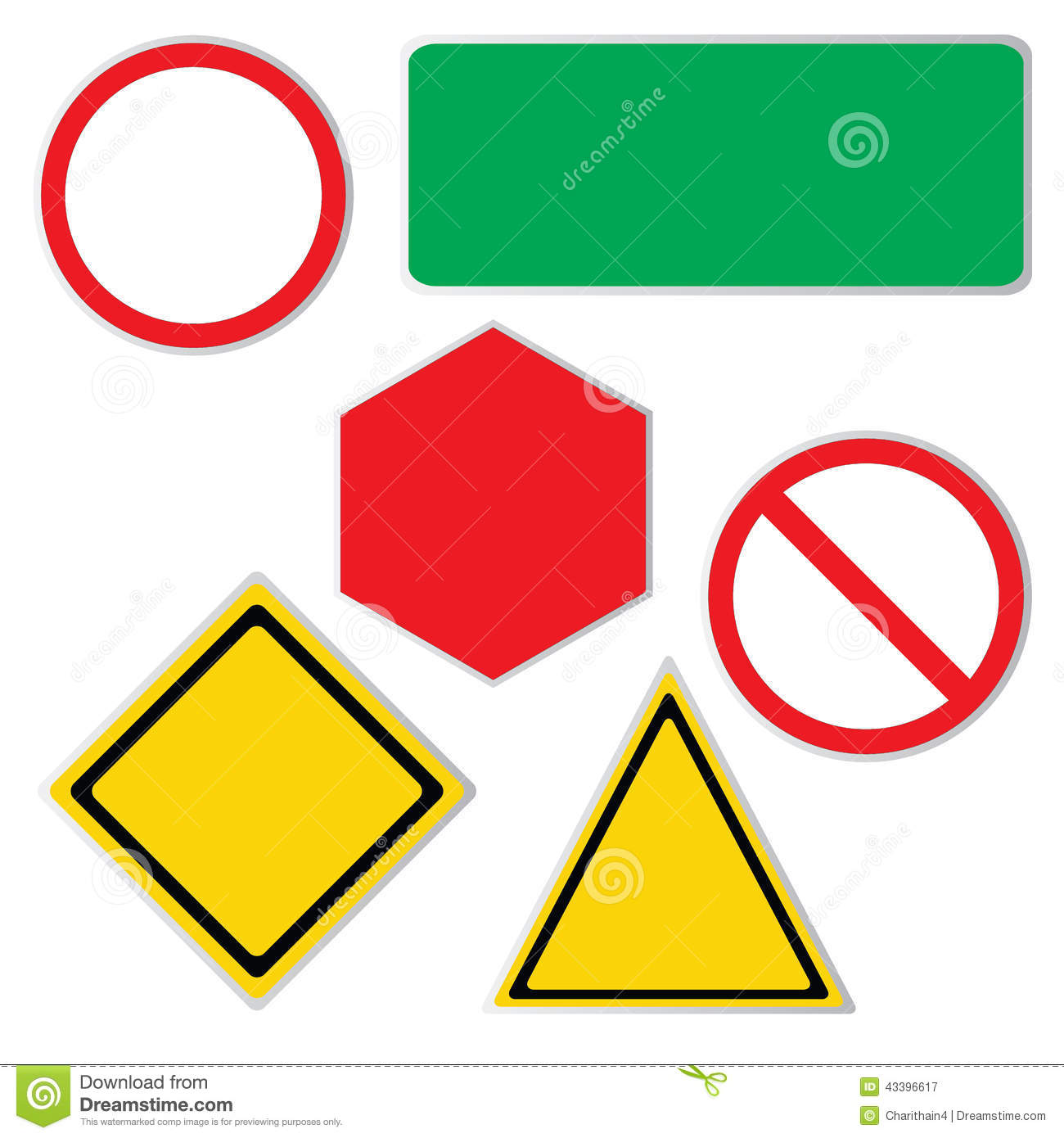 Blank road sign icons