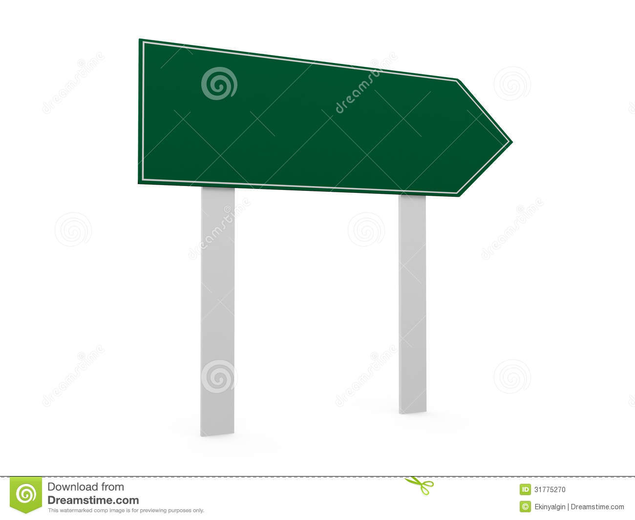 Blank Road Map Template Blank road sign template stock