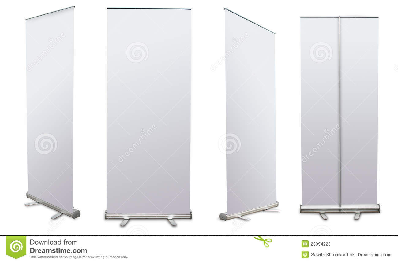 Blank Roll Up Banner Display Stock Image - Image: 20094223