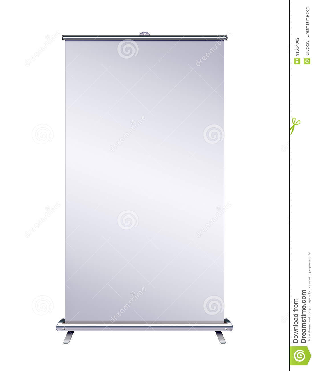 Blank Roll up Banner Stock Photography Image 31604002