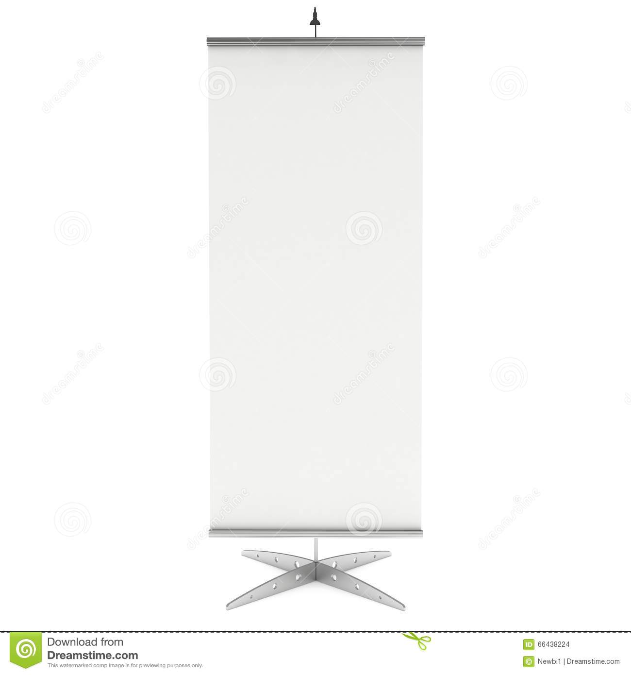 blank roll up banner stand 3d stock illustration image 66438224. Black Bedroom Furniture Sets. Home Design Ideas