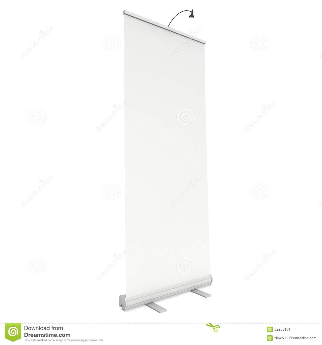 Exhibition Booth Vector Free Download : Blank roll up banner stand stock illustration image of