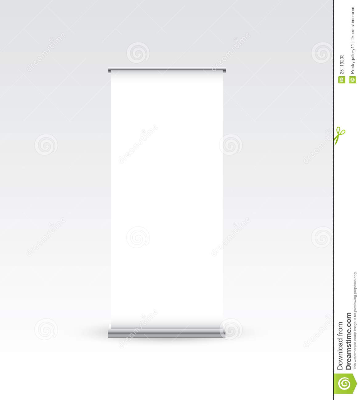 Exhibition Stand Vector Free Download : Blank roll up banner on white stock vector image