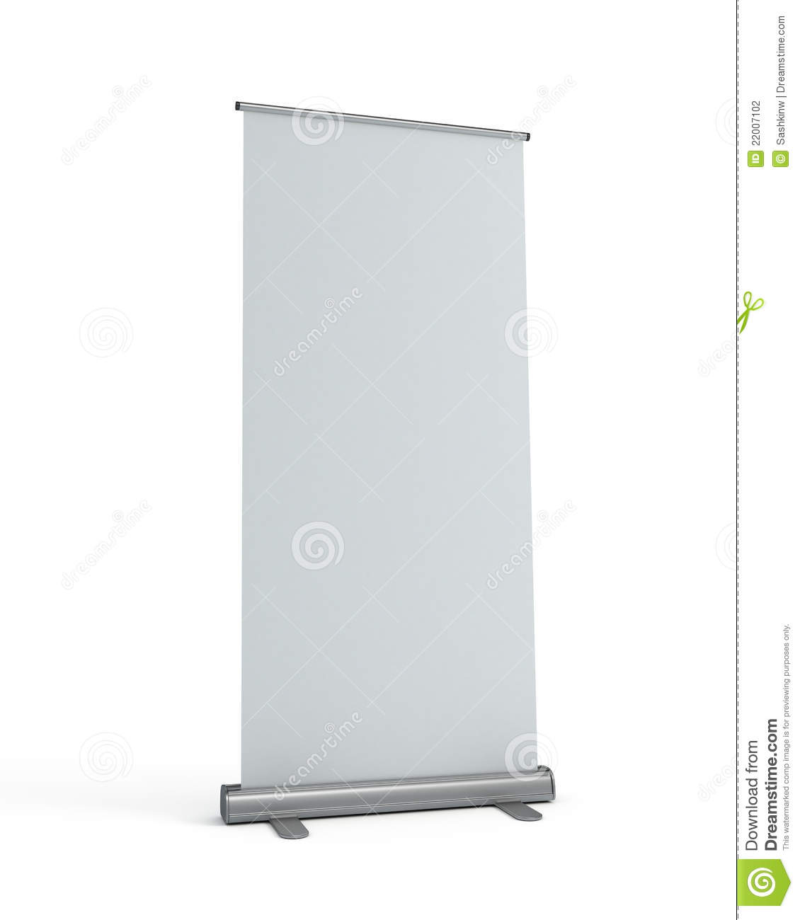 blank roll-up display banner stock photography