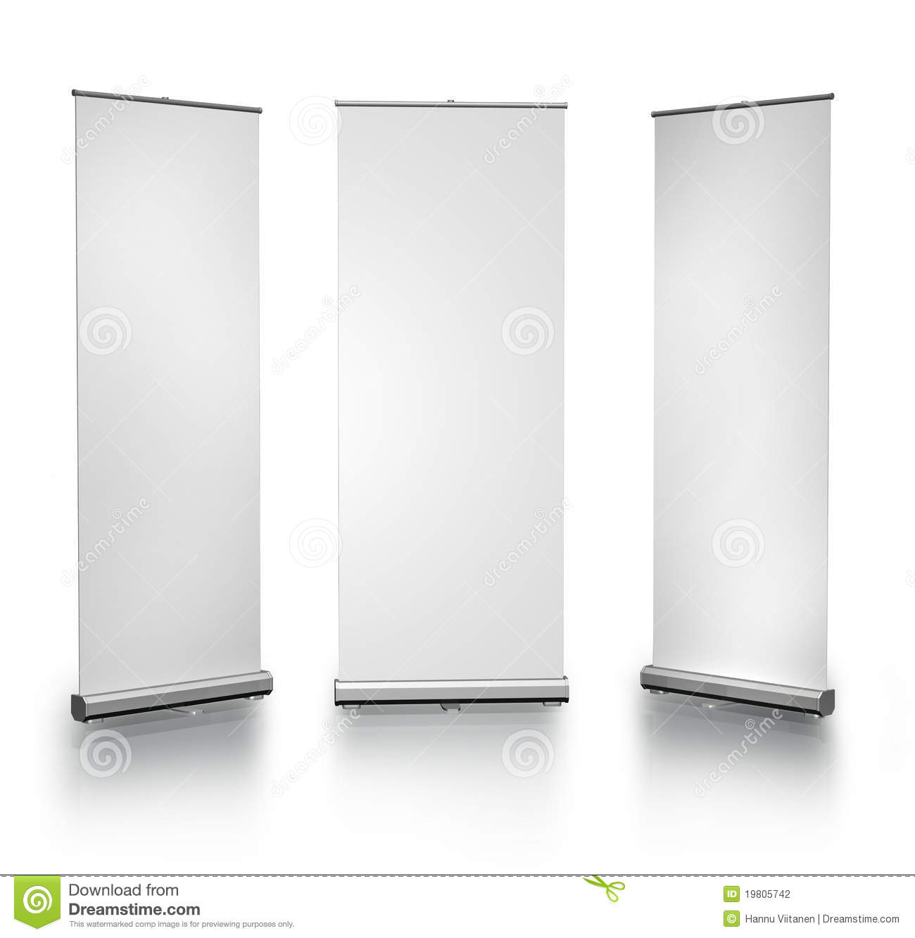 Blank Roll-up Posters Stock Photography - Image: 19805742