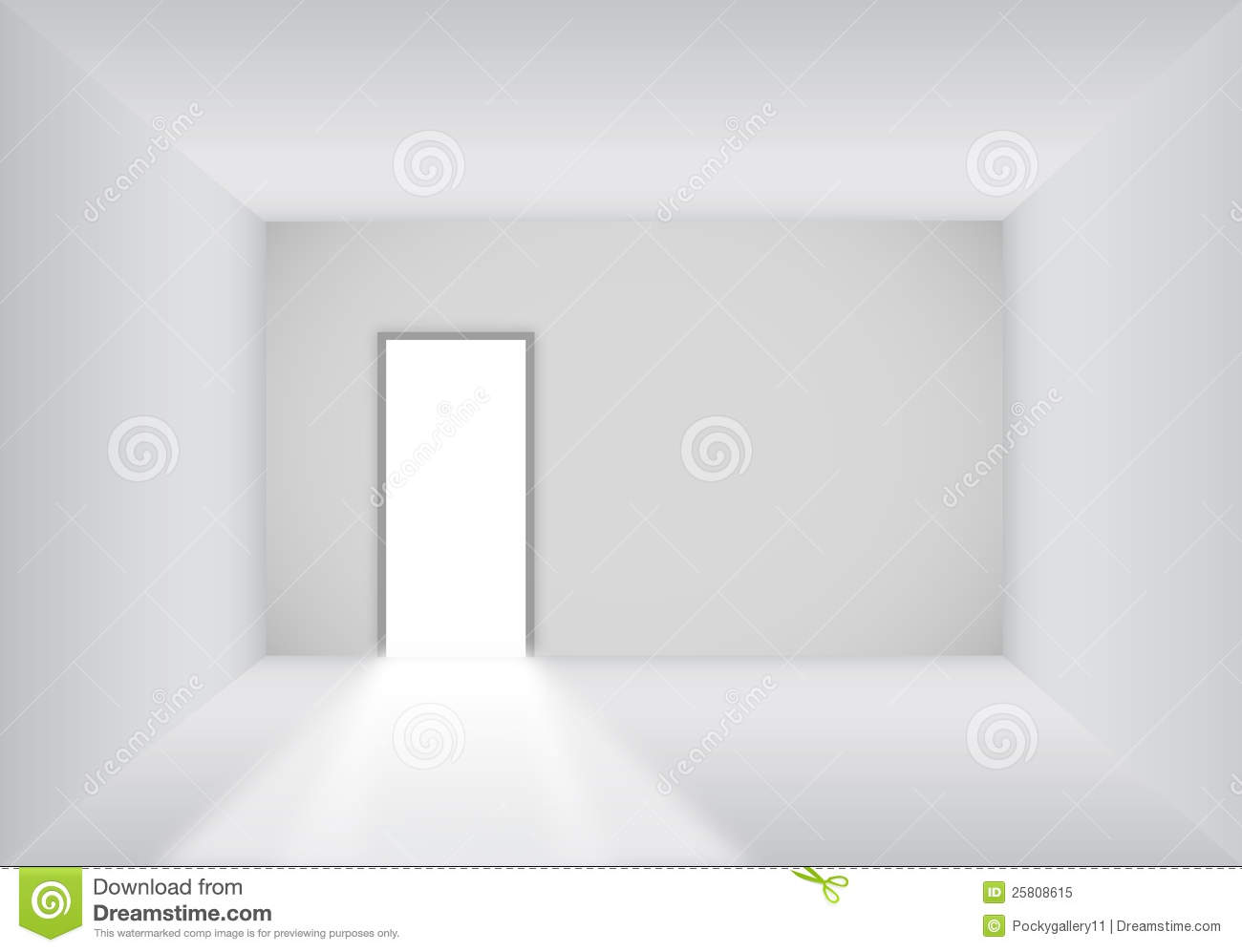Blank Room With Open Door Royalty Free Stock Photo Image