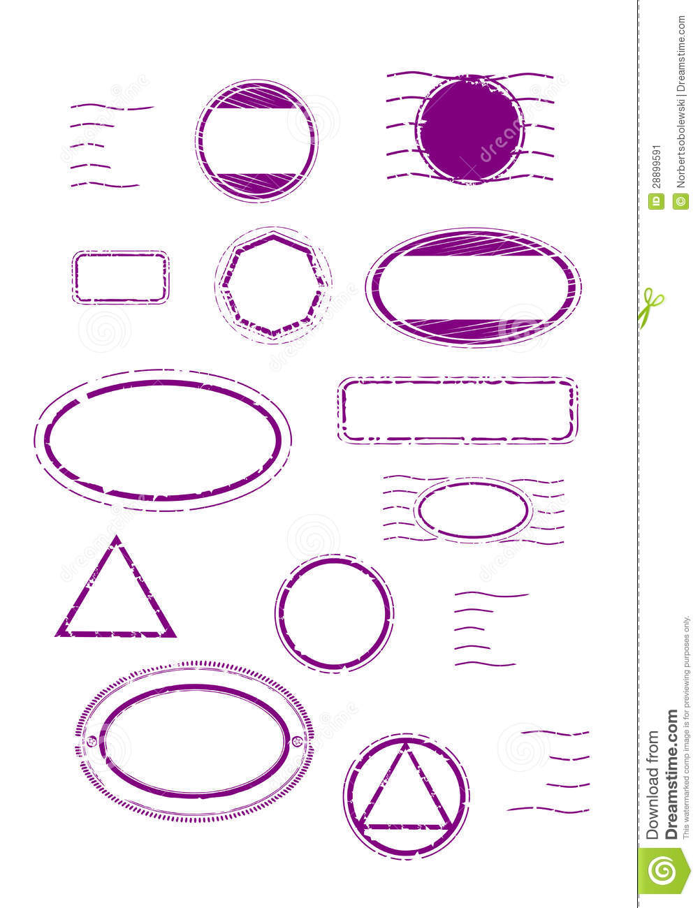 Blank Rubber Stamps Set Stock Image - Image: 28899591