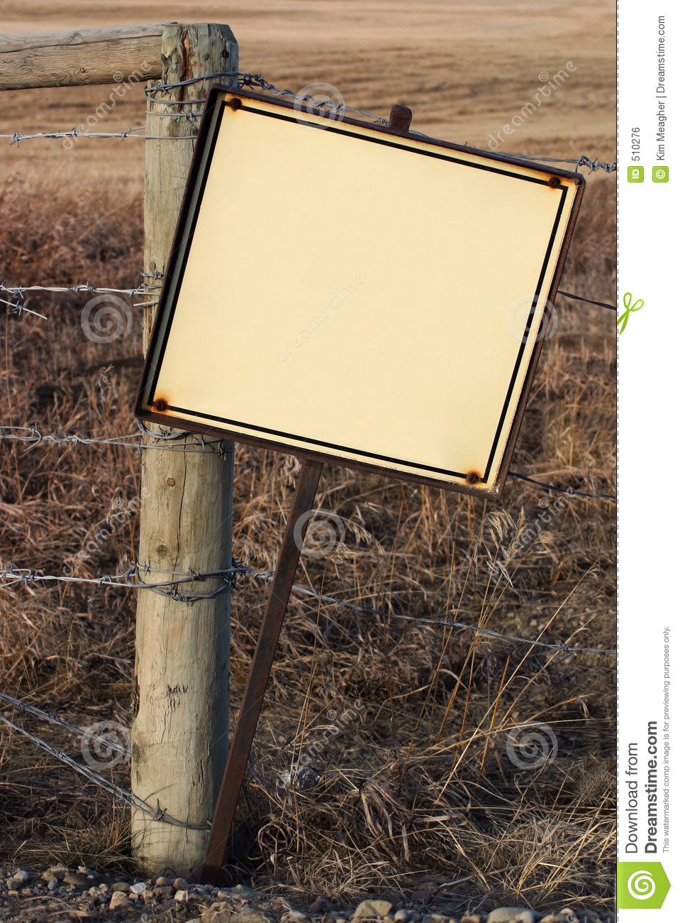 Blank Rustic Sign