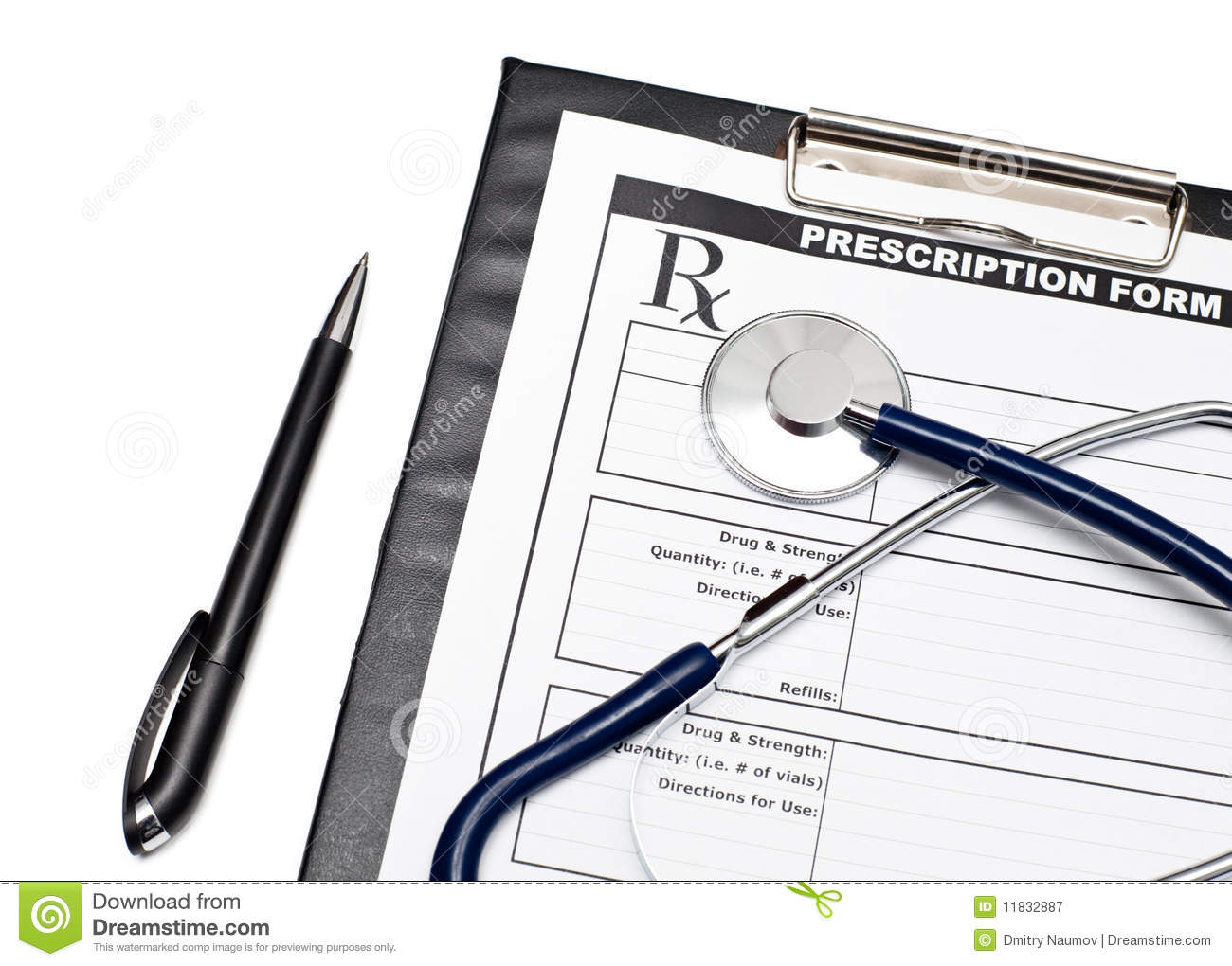 Blank Rx With Stethoscope Royalty Free Stock Photography - Image ...