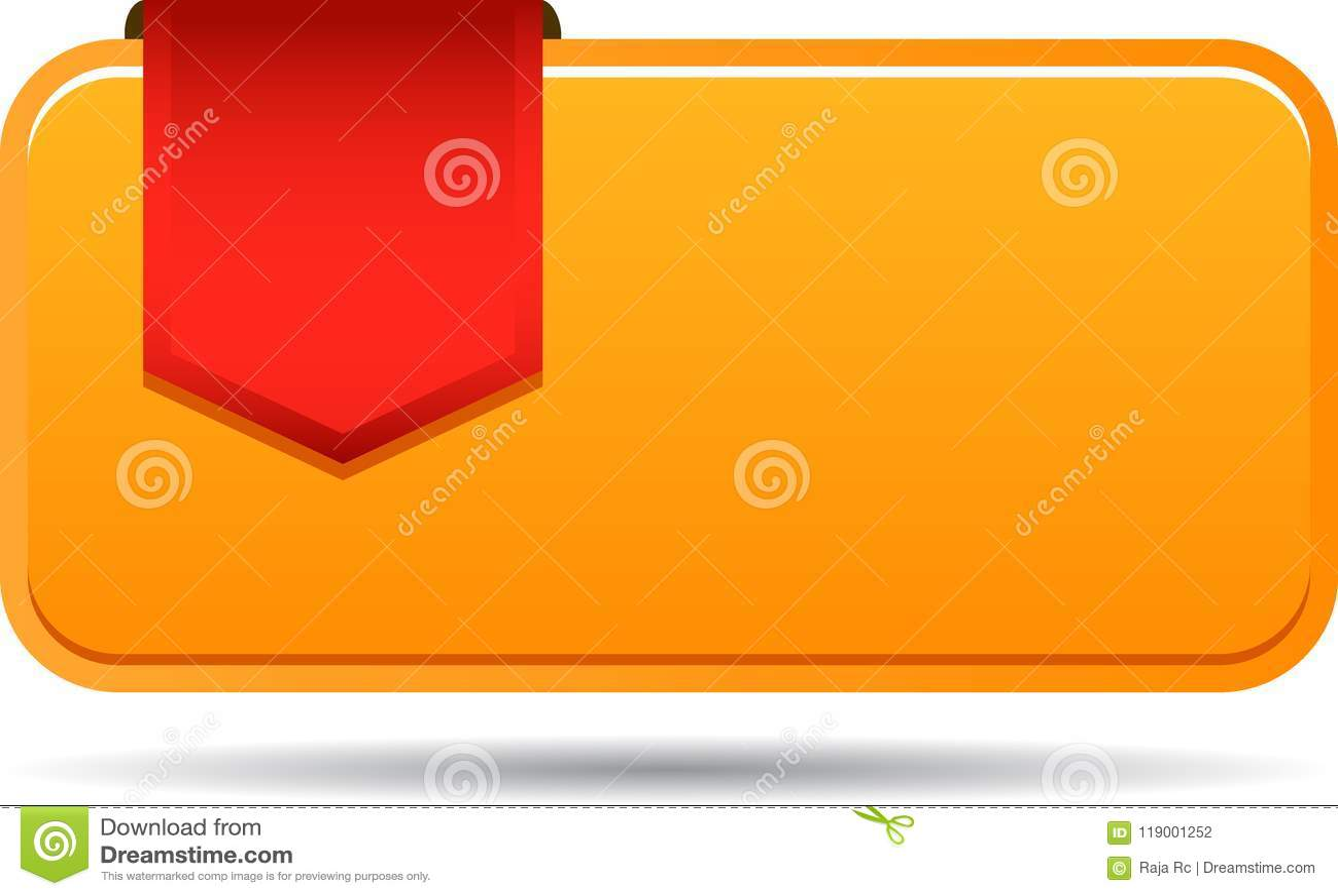 Blank sales tag with ribbon