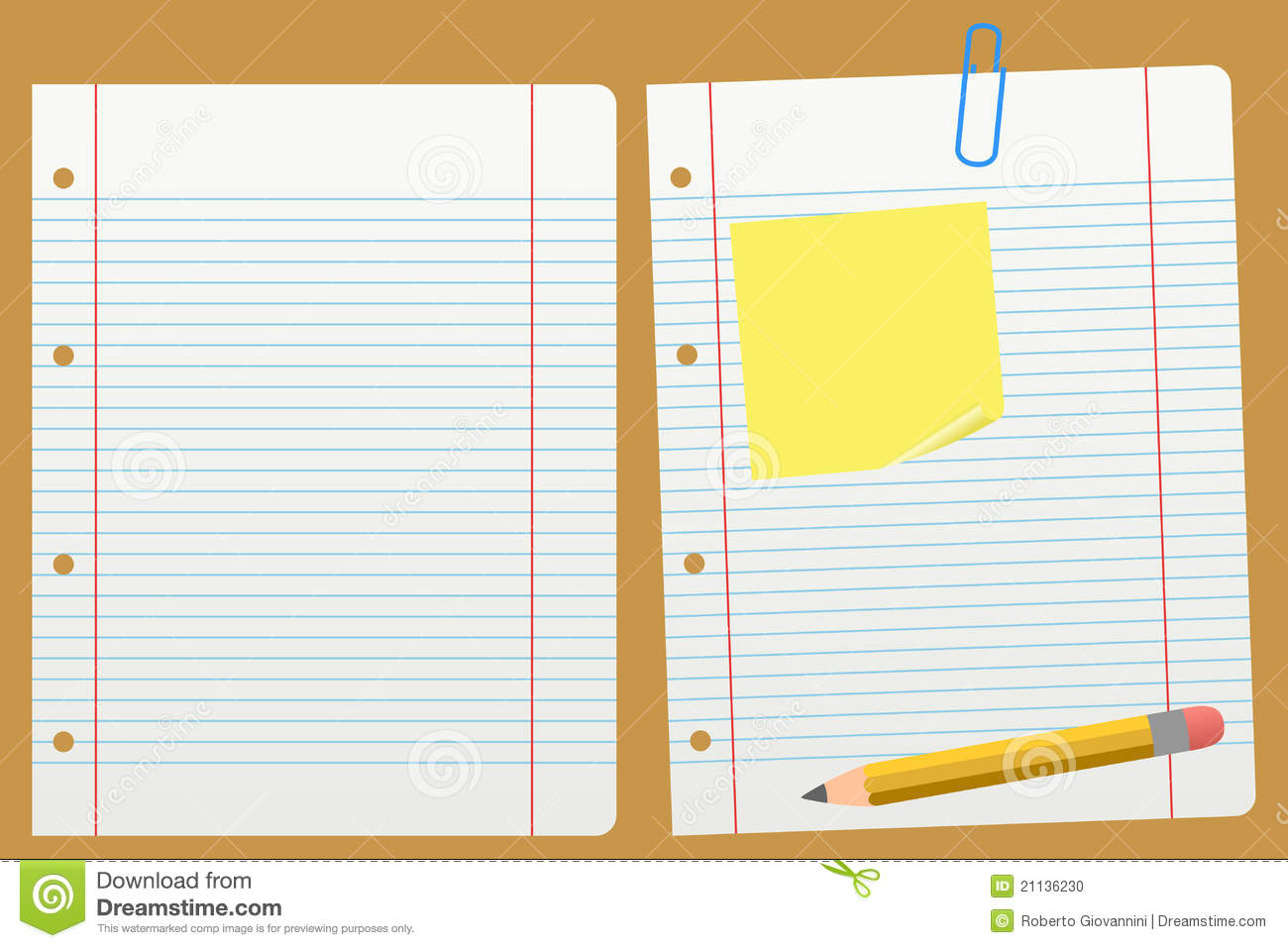 Blank School Lined Paper Stock Photo Image 21136230