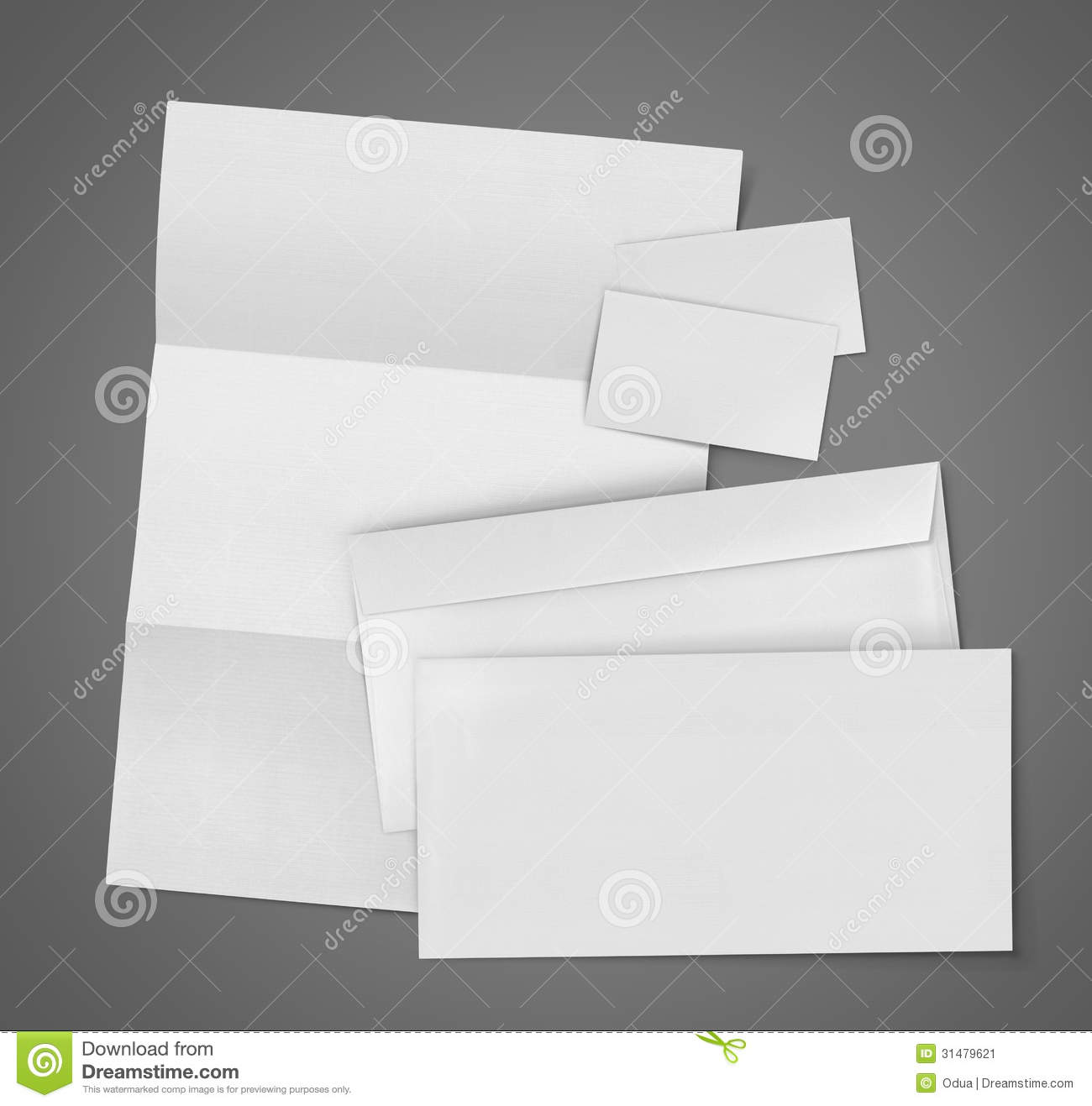 Blank Stationery And Corporate Identity Template Consist: Blank Set Stationery Corporate ID Stock Image