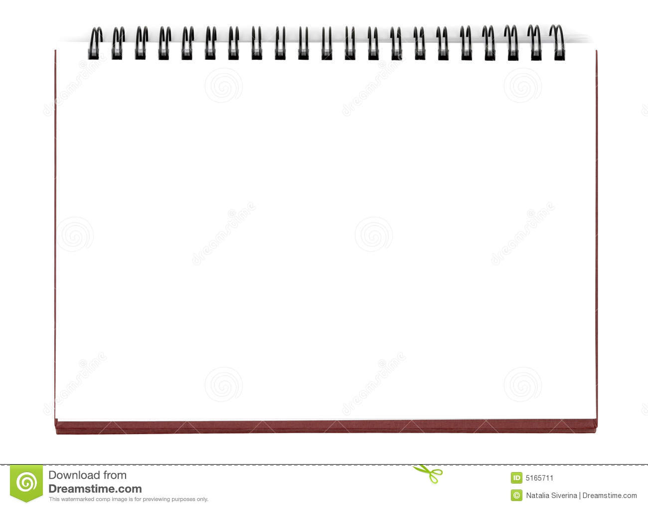 Opened notebook isolated with clipping path over white.