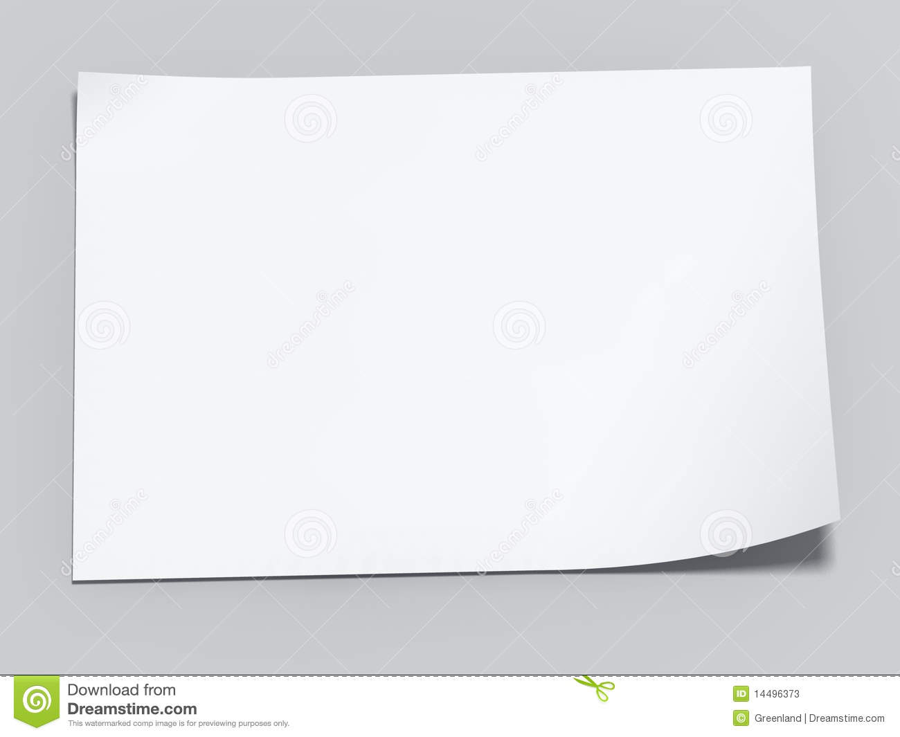 Blank Sheet Of Paper Stock Illustration. Illustration Of