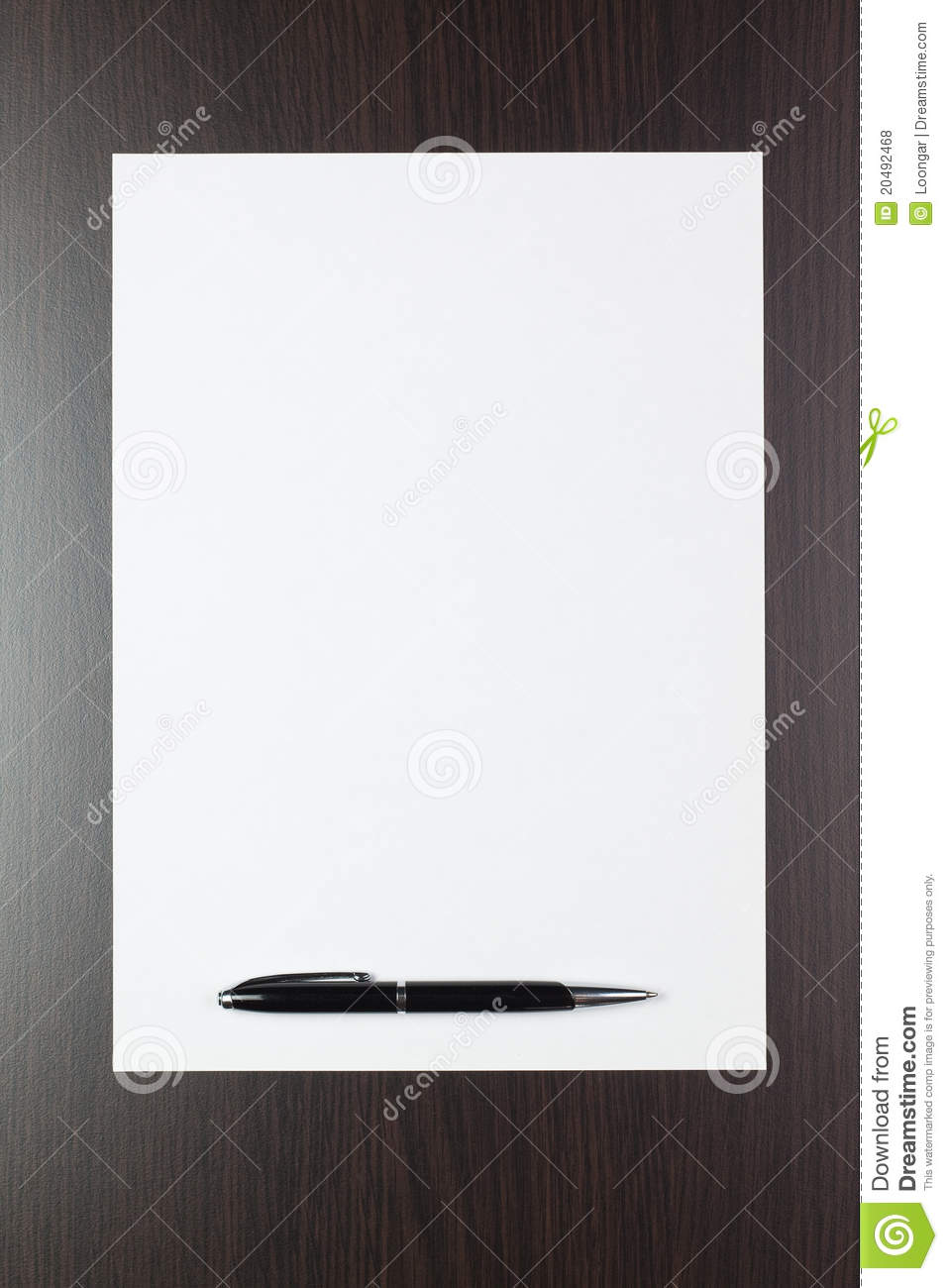 blank sheet of paper stock photo  image of clean  message