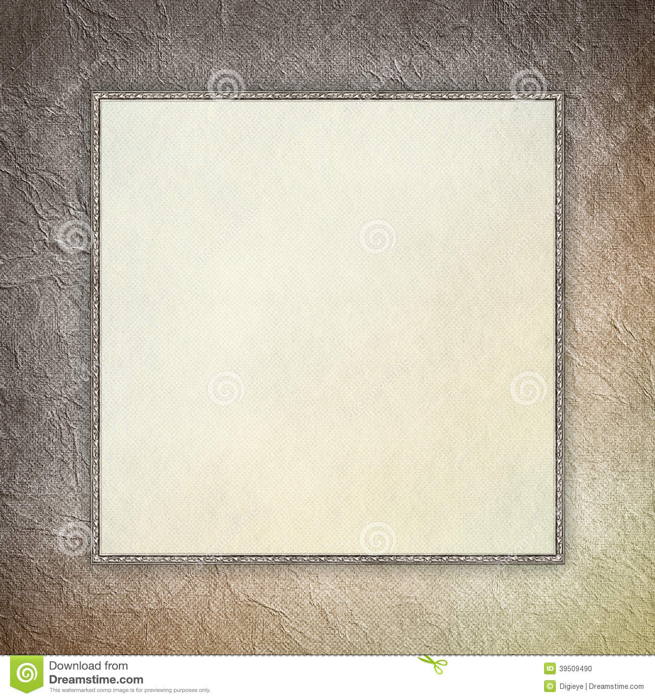 Blank sheet in picture frame