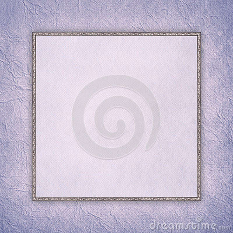 Blank sheet in picture frame on paper background