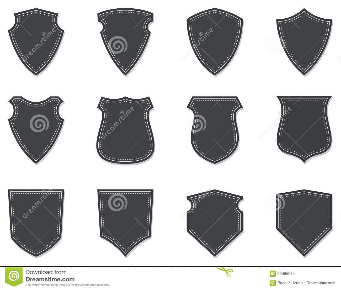 Blank Shields Badges Stock Vector Illustration Of Authority