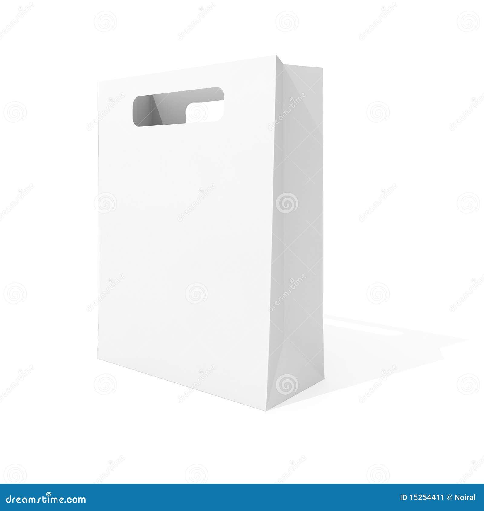 Blank Shopping Bag Stock Image - Image: 15254411