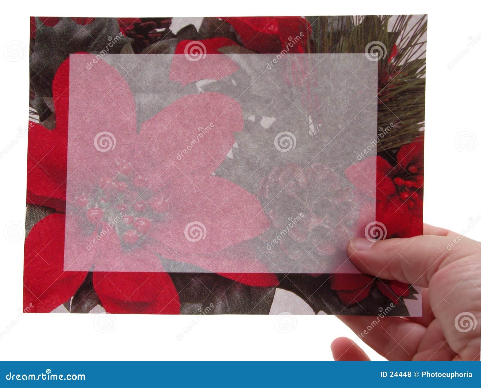 Blank Sign: Christmas Invitation