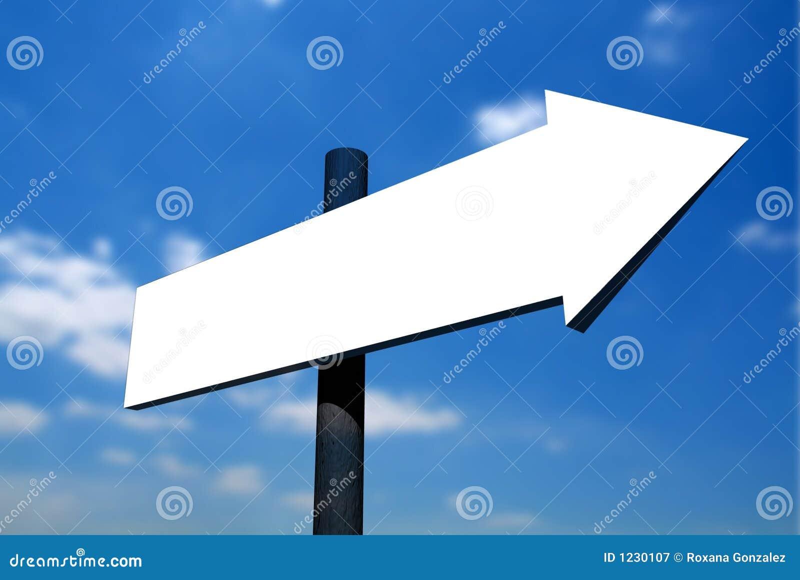 Blank Signpost Against Sky 2