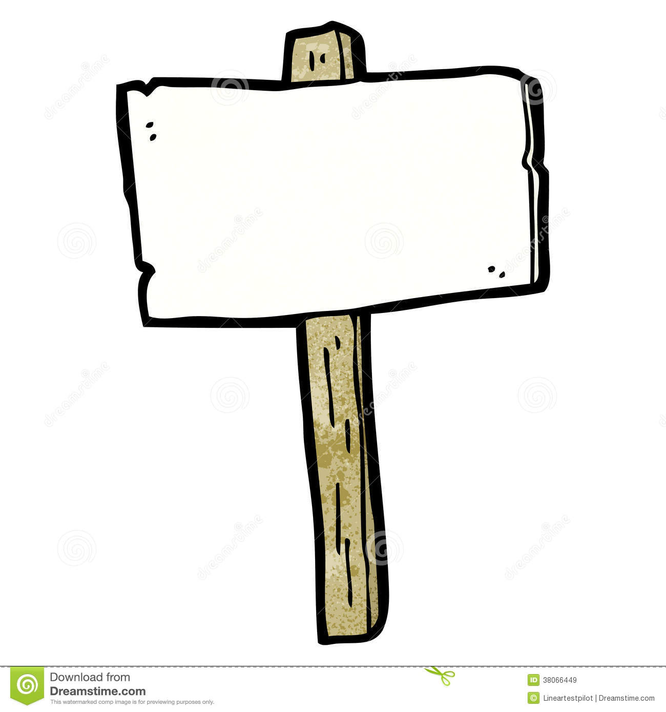 Blank Signpost Cartoon Royalty Free Stock Images - Image: 38066449