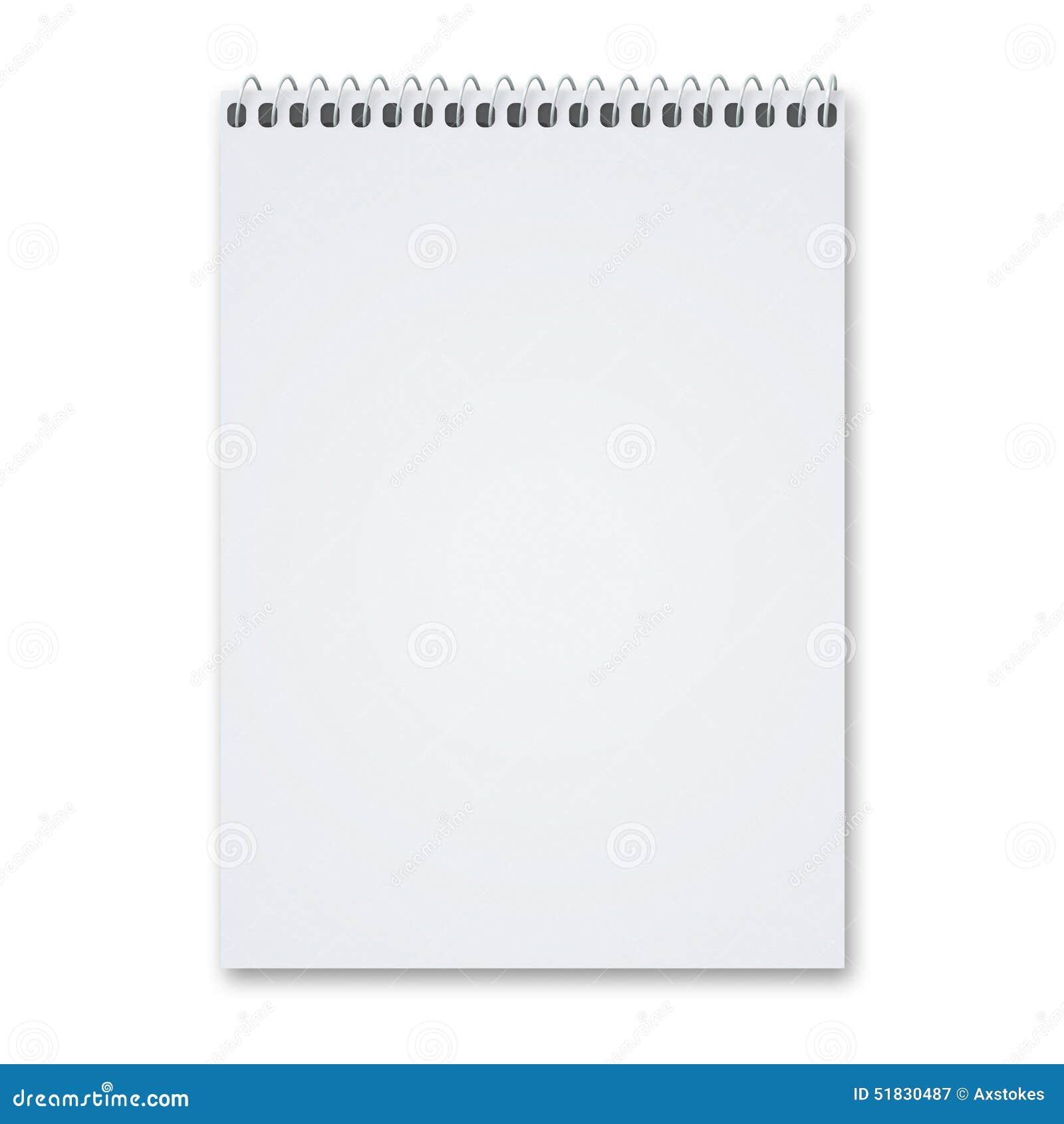 Blank Sketch Pad Stock Photo Image 51830487