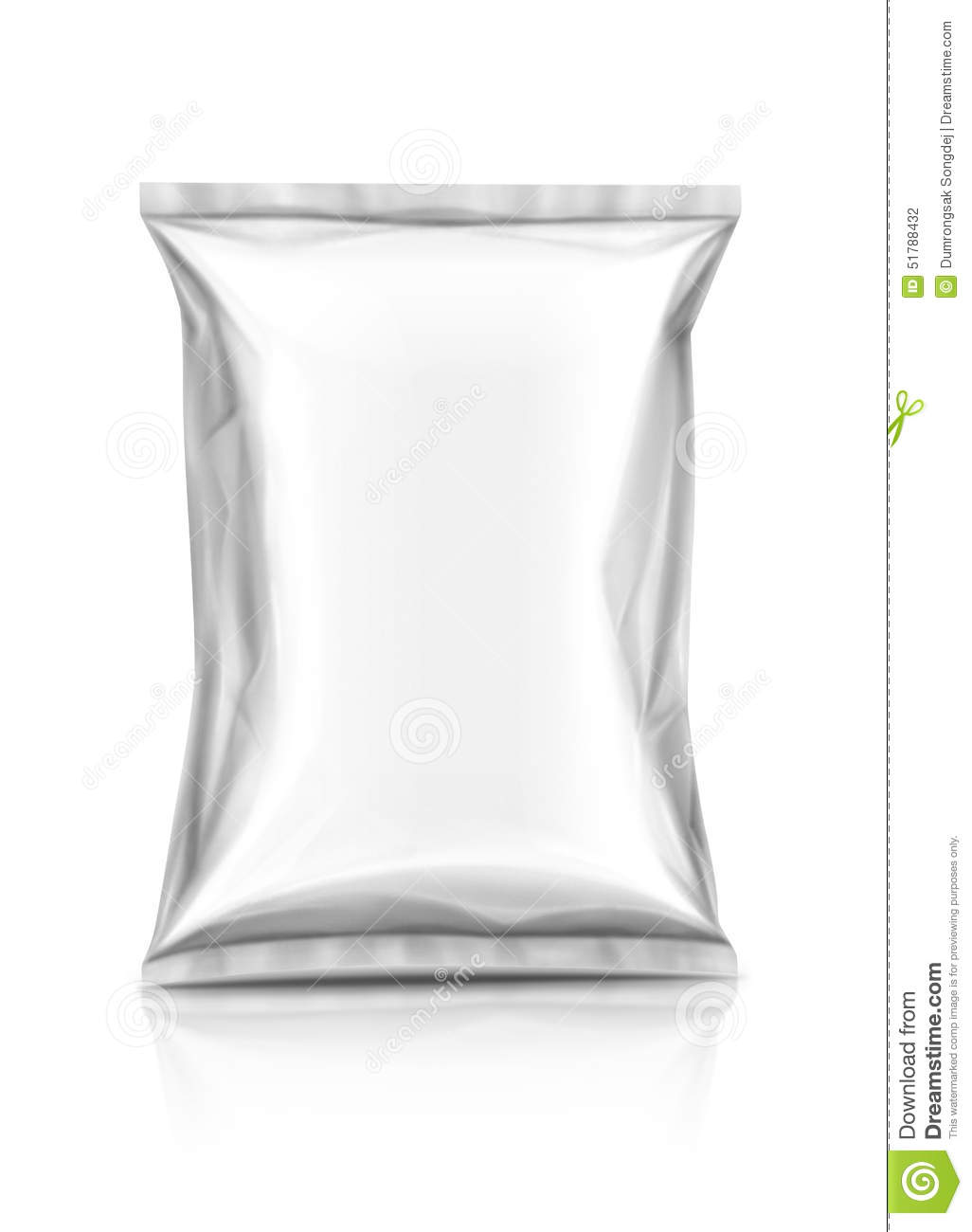 Blank snack packaging pouch