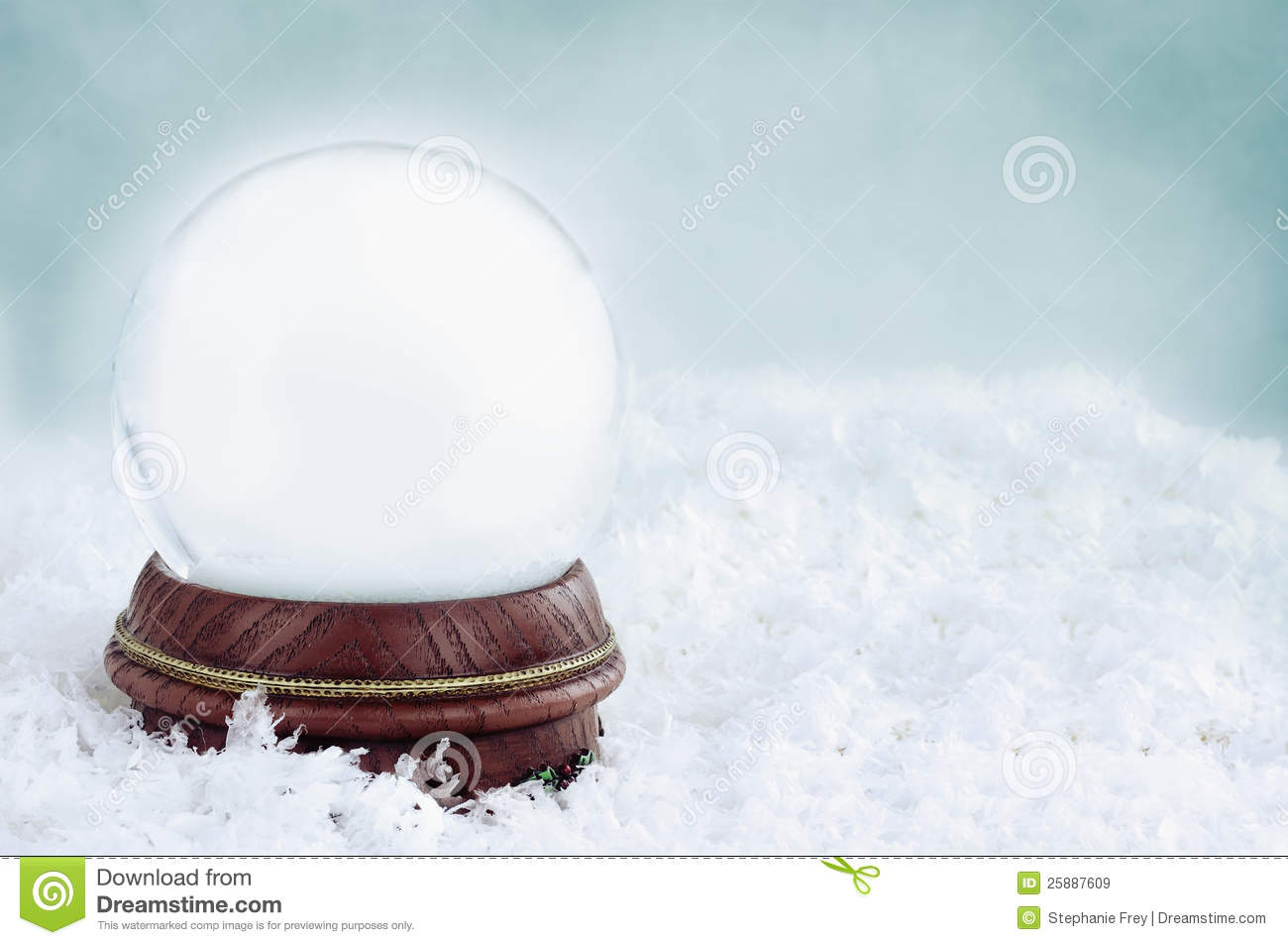Blank Snow Globe Royalty Free Stock Images Image 25887609