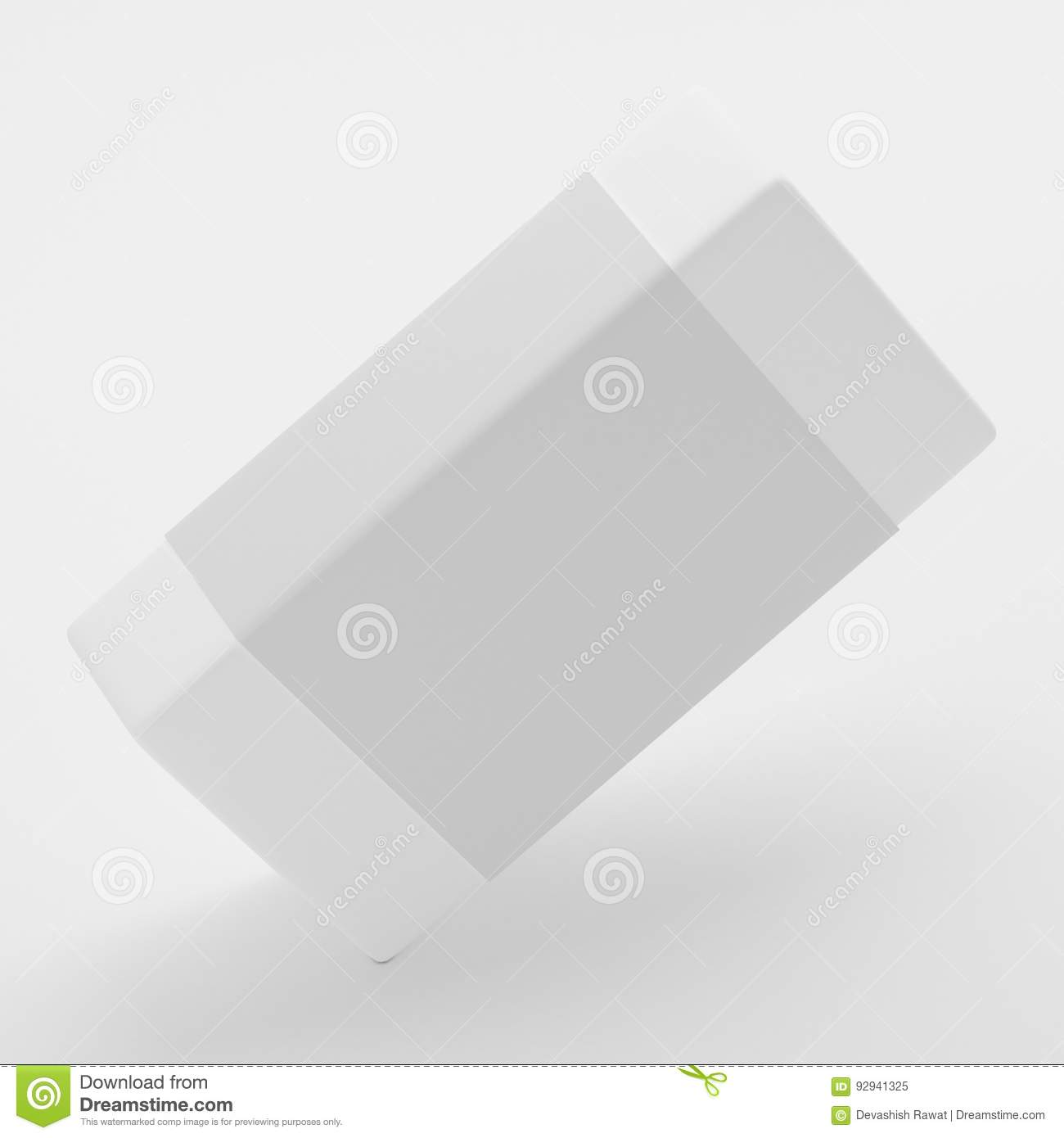 Blank Soap Label Packaging Mock-Up Template On White Background ...