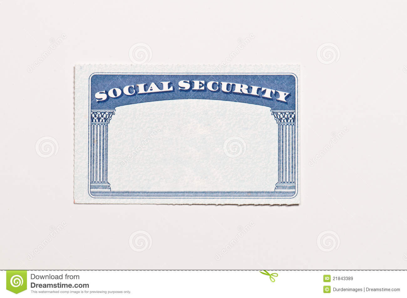 - 21843389 Card Image Security Social Of Stock Blank Image Document