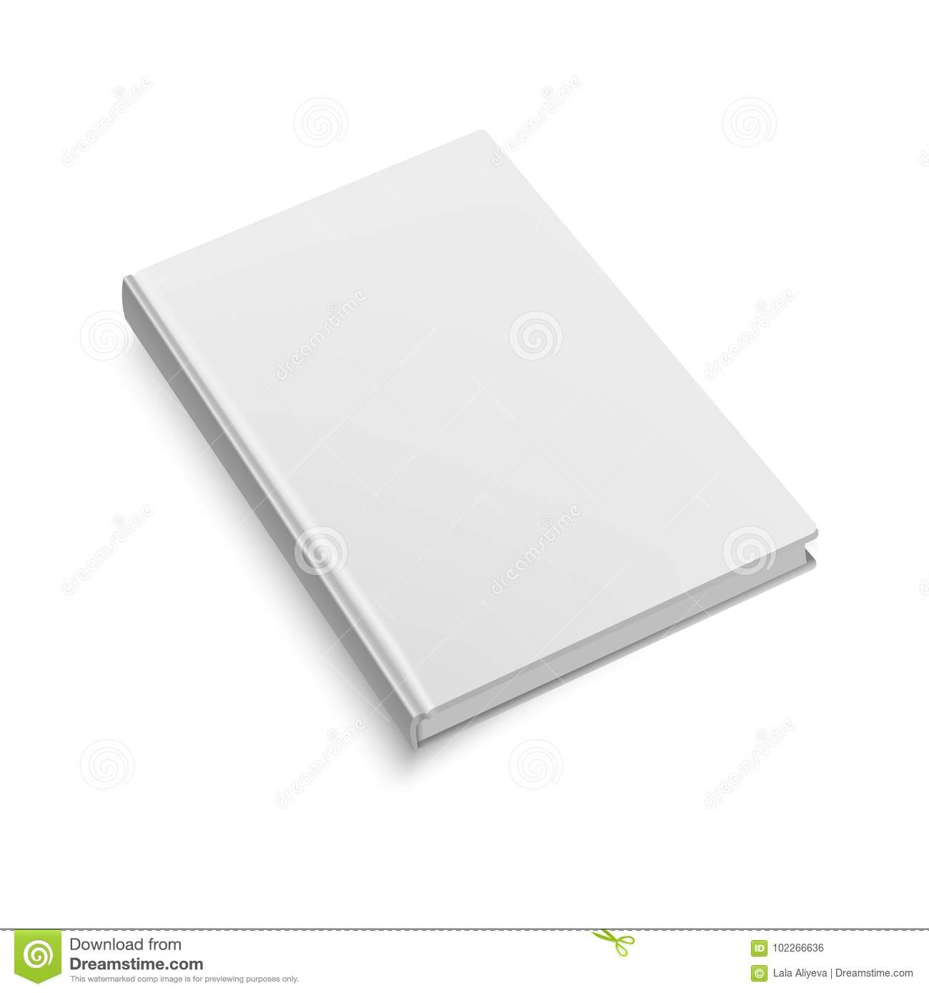 blank softcover book or magazine template on white background mock