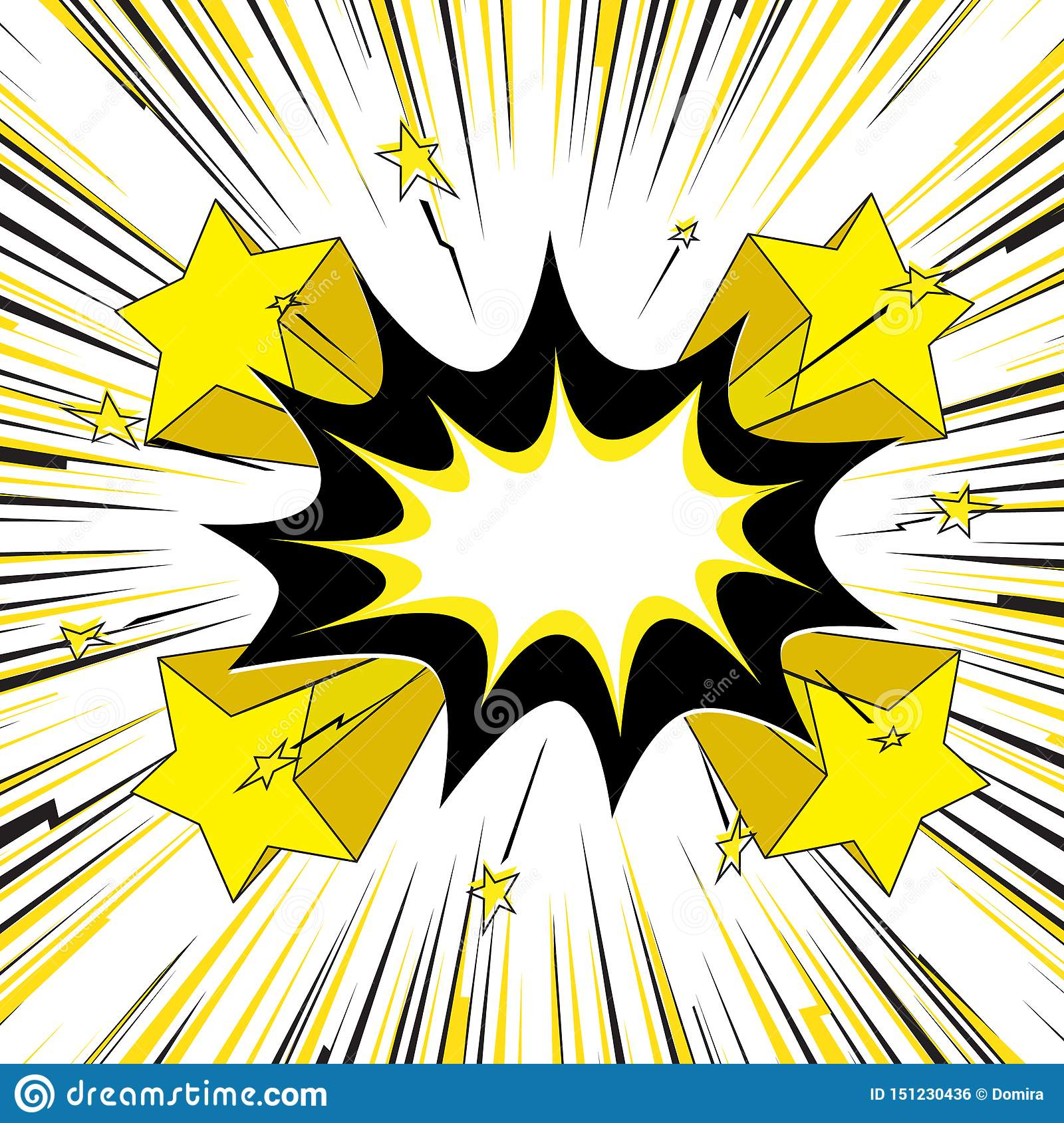 Blank Speech Bubble Speed Lines With Effect Explosion Retro Effect Motion Lines For Comic Book And Manga Pop Art Stock Vector Illustration Of Perspective Motion 151230436 Speech balloon comics text, comics speech bubble, blank bobble text, comics, angle, text png. https www dreamstime com blank speech bubble speed lines effect explosion retro motion comic book manga pop art colorful center frame image151230436