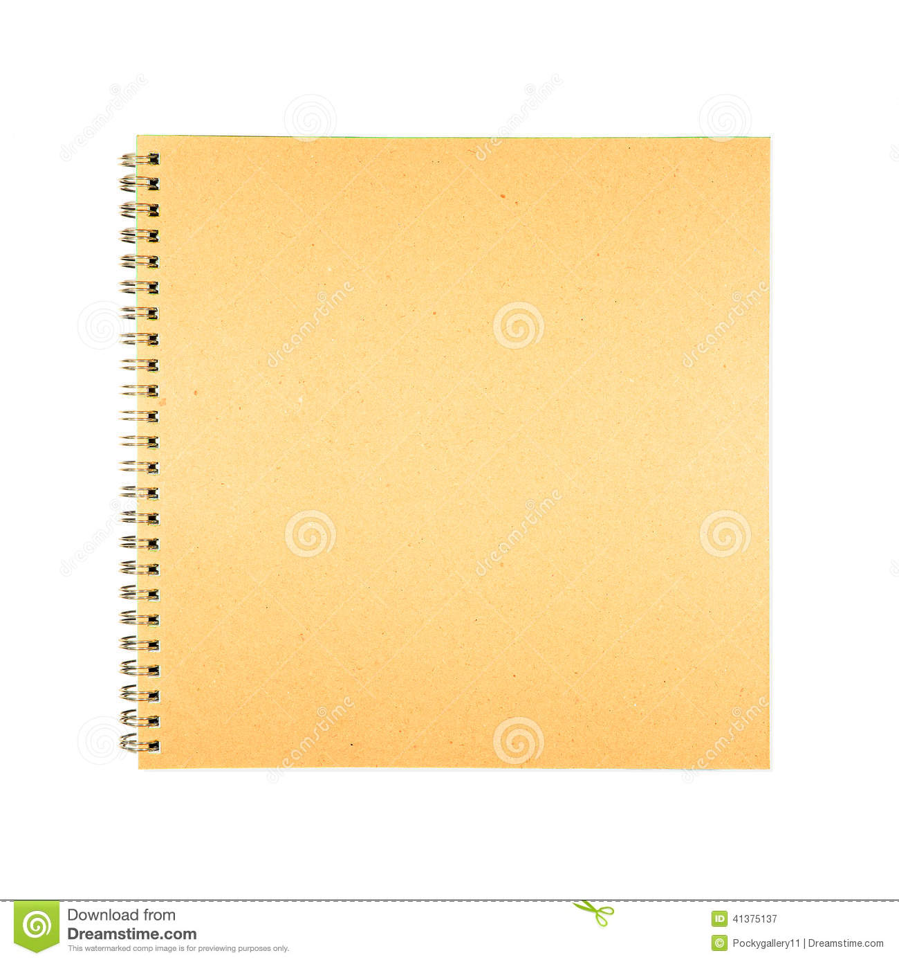 White Book Cover Paper ~ Blank spiral brown cover book paper stock photo image