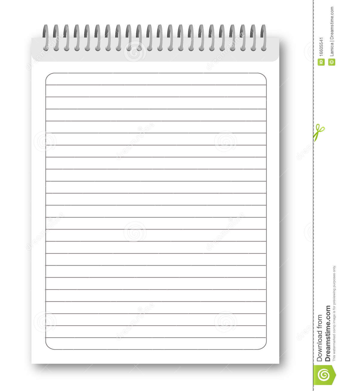 Blank spiral notebook isolated on white background  Vector eps10    Blank Spiral Notebook