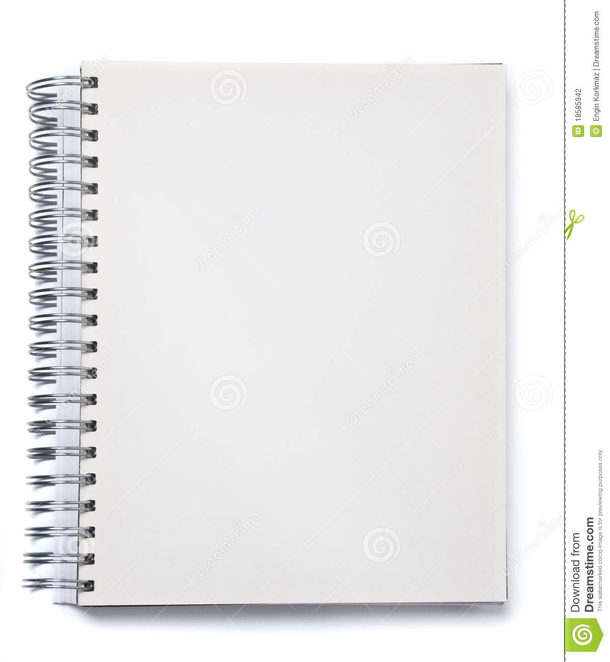 Blank Spiral Notebook Stock Photography - Image: 18585942