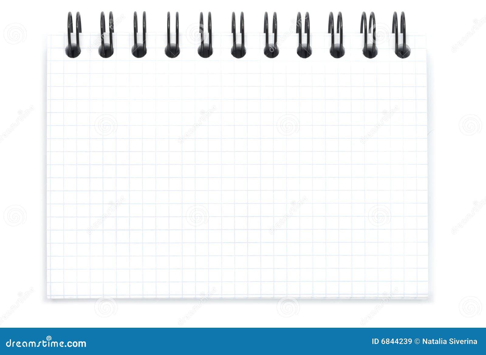 Libreta De Hojas Blancas De Dibujo Jpg By Gianferdinand: Blank Spiral Notebook Stock Image. Image Of Book, Path
