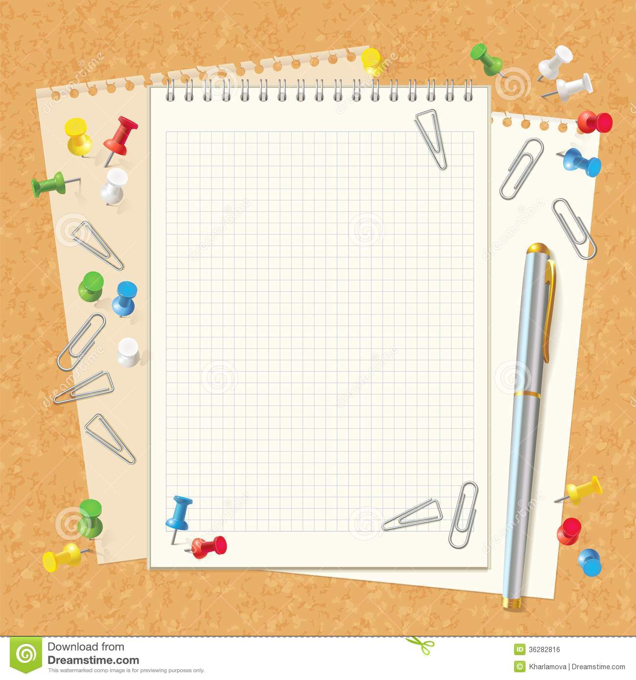 Blank Spiral Notebook On Cork Board Royalty Free Image – Notebook Paper Download