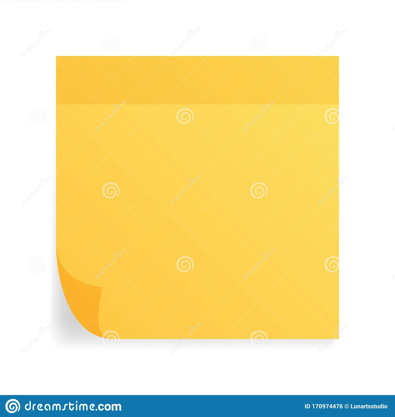 Blank Square Adhesive Crumpled Notes Sticker Mock Up With Curved Corner  Mockup Empty Sticky