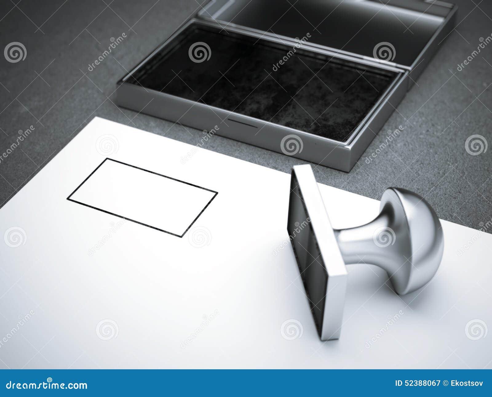 Blank square metal stamp