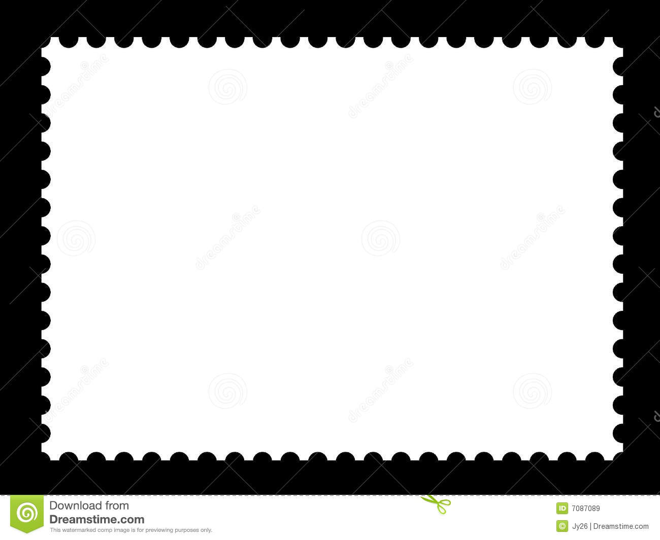 Blank Stamp Templates Royalty Free Stock Images - Image: 7087089