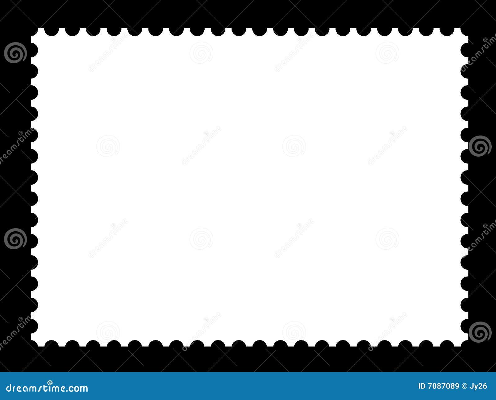 Stamp Template | A Blank Stamp Templates Stock Illustration Illustration Of Album